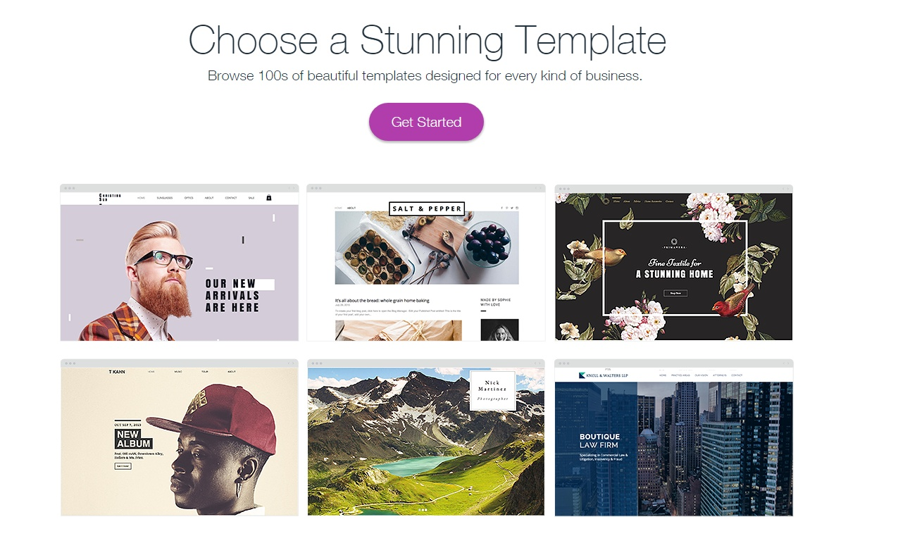 wix template section