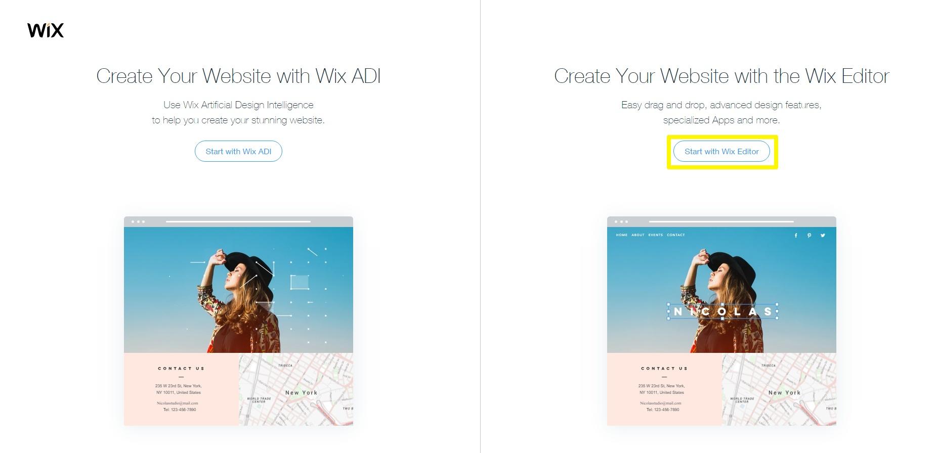 wix ADi and wix editor
